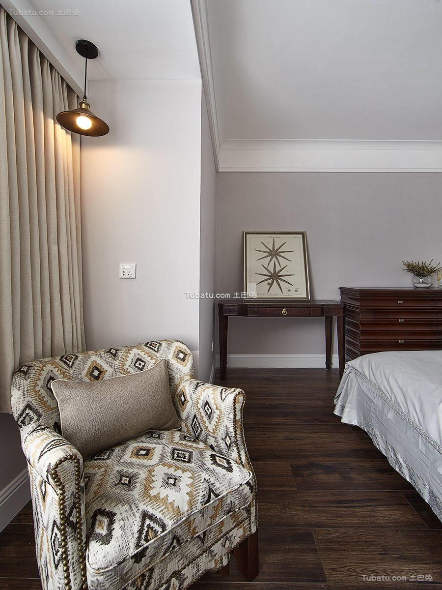 美式设计卧室沙发图