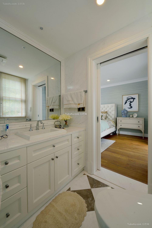 美式设计卫生间洗脸盆欣赏