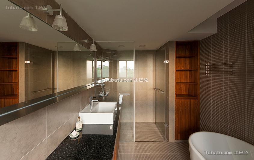 后现代风格公寓卫生间设计效果图
