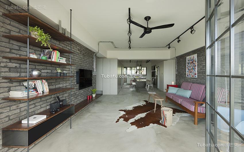 后现代风格公寓室内设计效果图