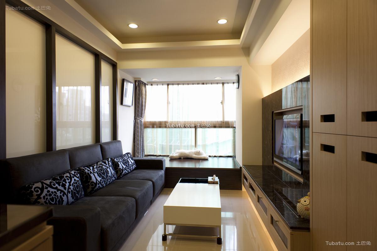 60平米日式现代风格一居室装修效果图