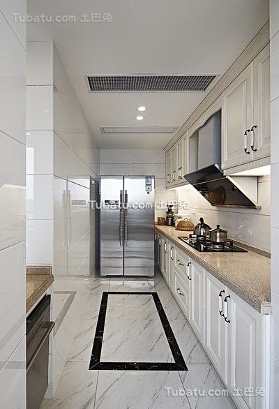 现代15平L型厨房设计