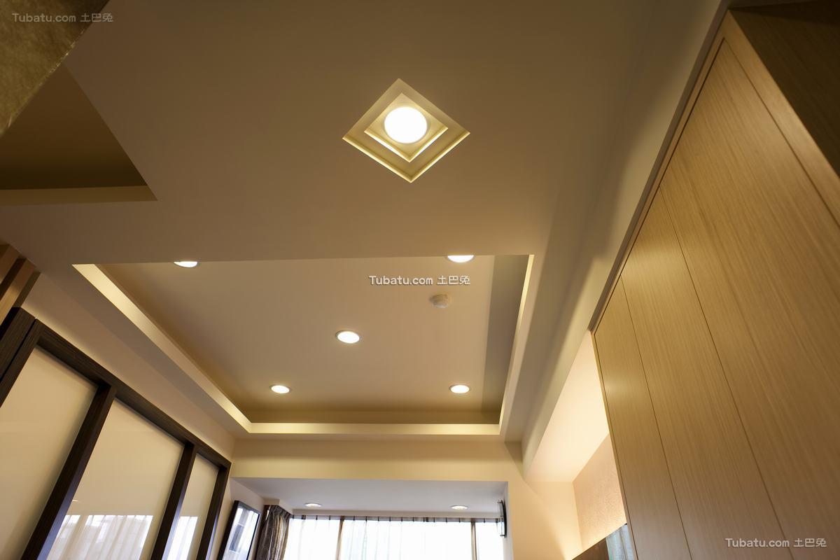 日式现代风格室内吊顶装修效果图