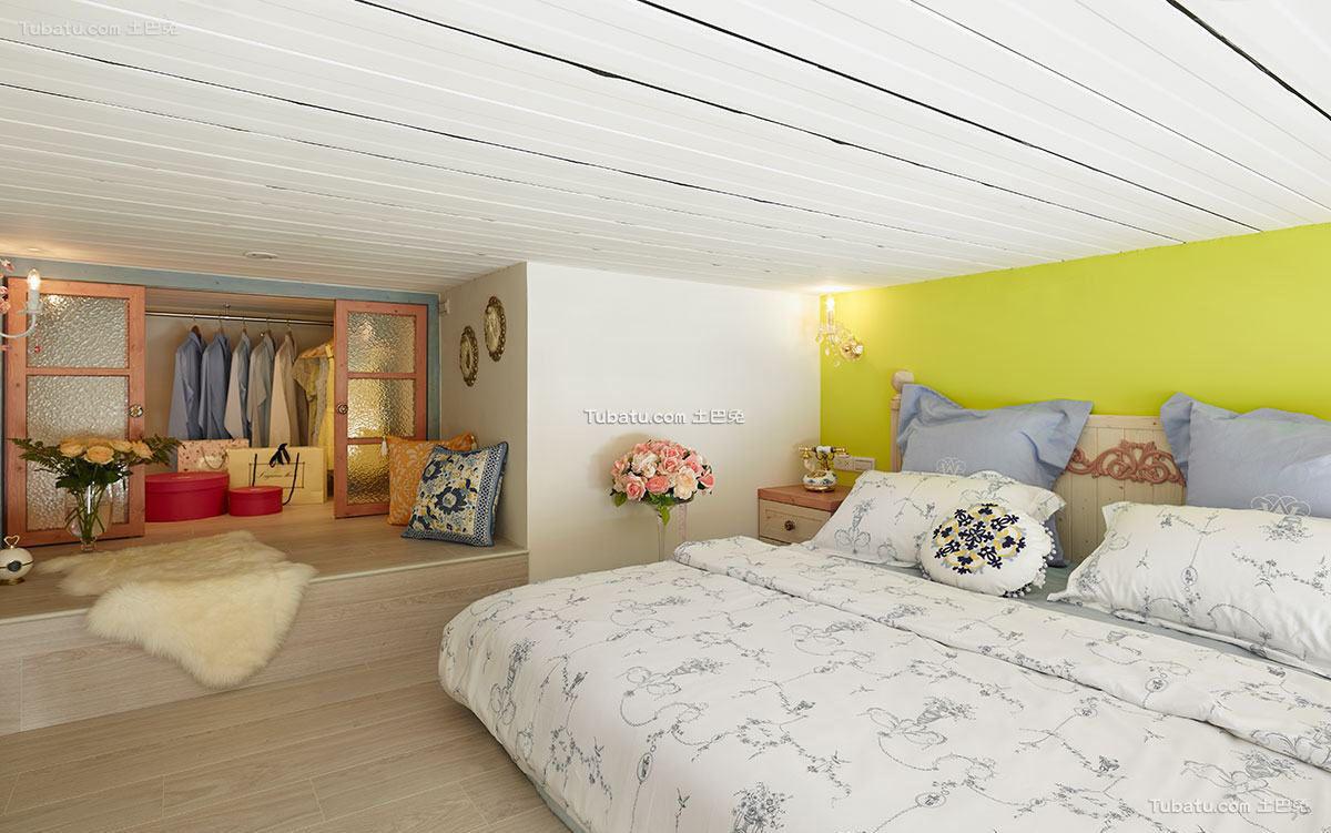 现代简约小卧室室内装饰图片