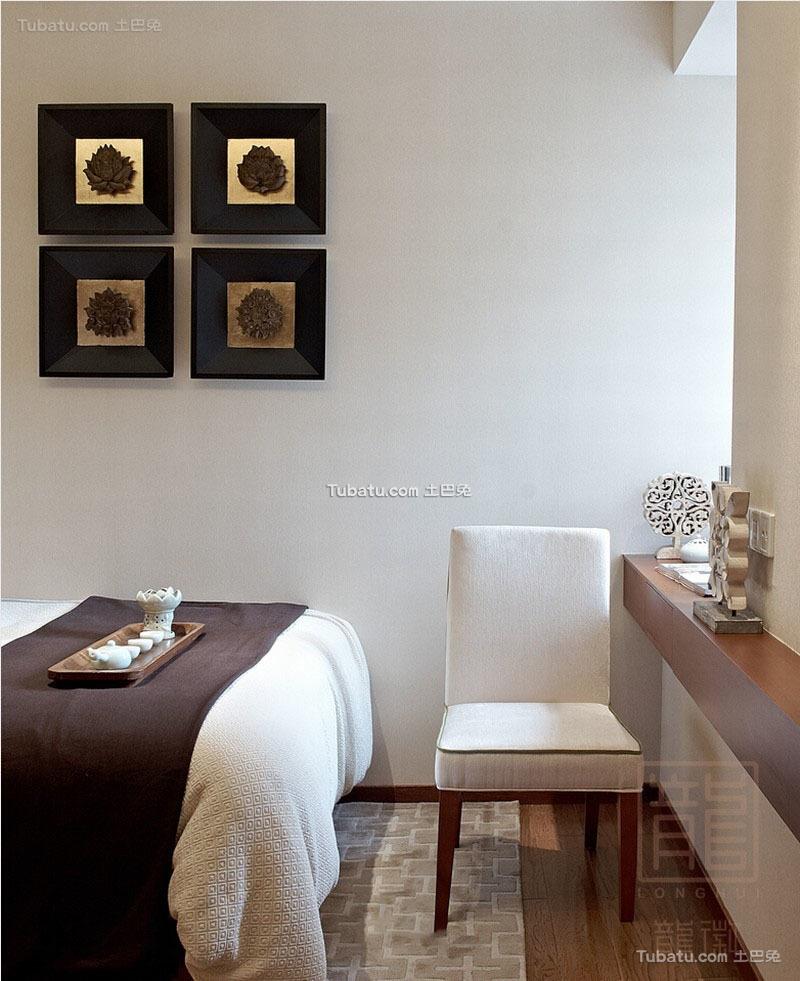 东南亚家居卧室墙绘画图片