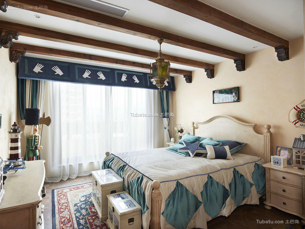 田园装修设计卧室吊顶图