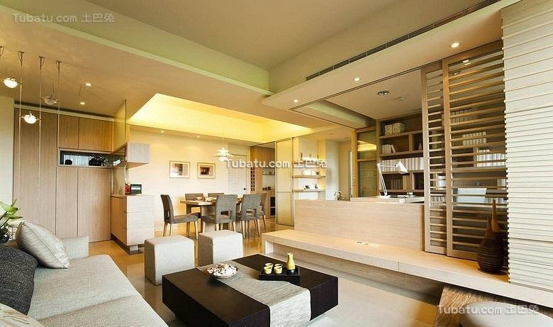简约日式风格二居室设计欣赏