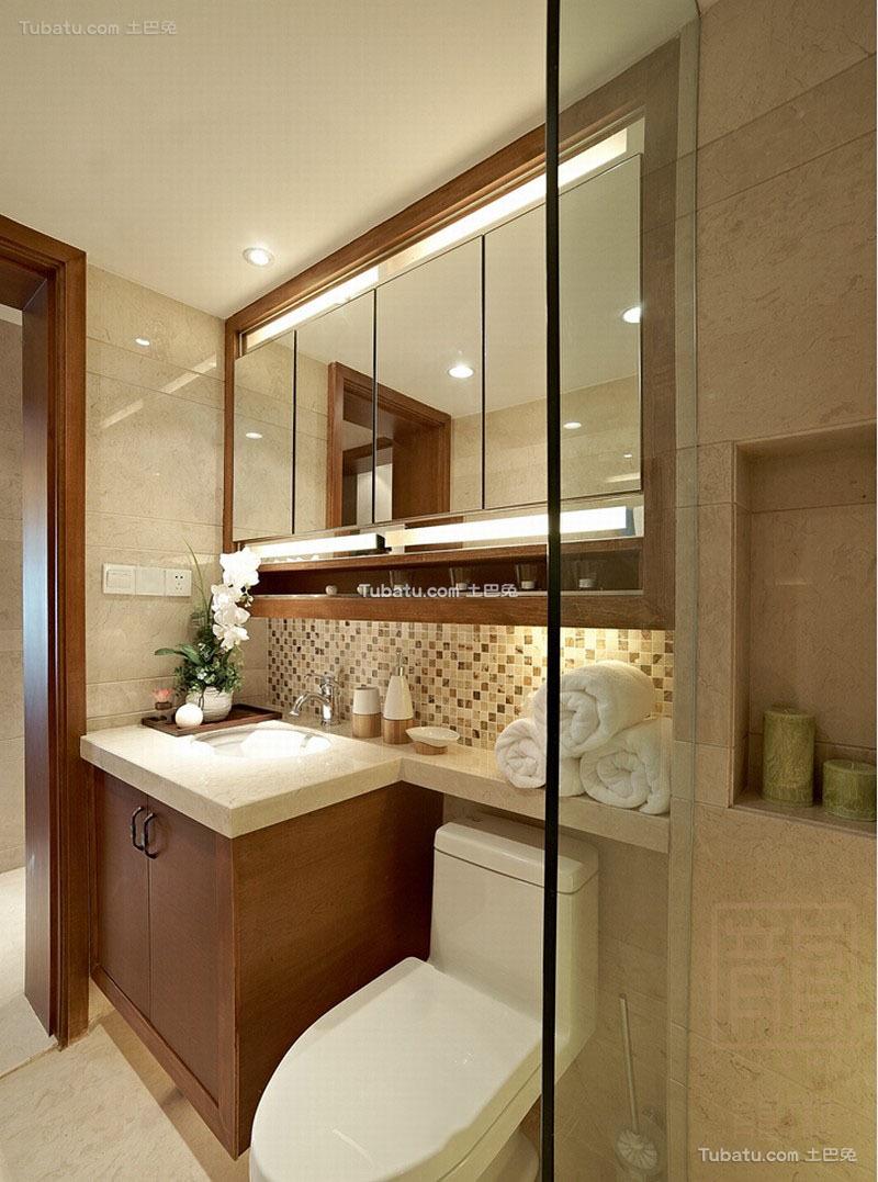 东南亚设计卫生间洗脸盆效果图