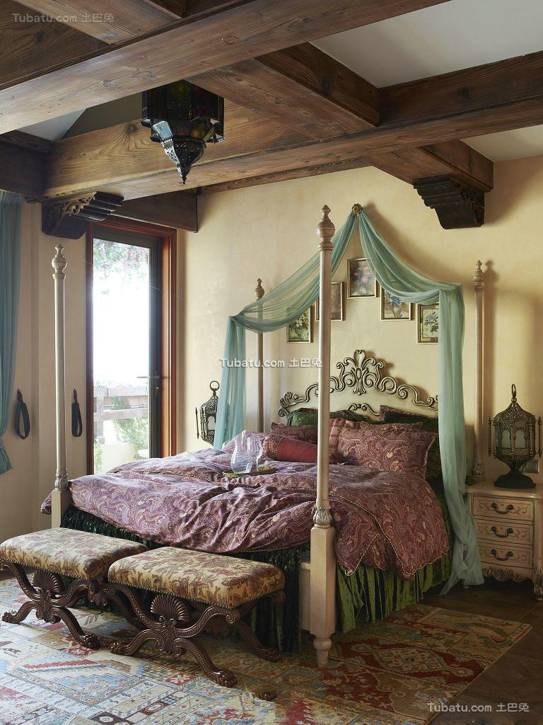 田园装修卧室吊顶