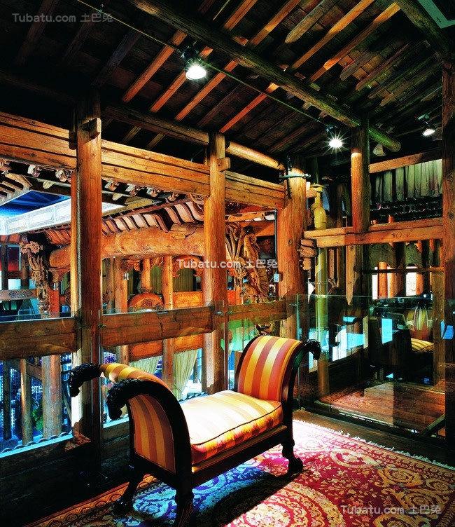 东南亚风格会所设计室内沙发图片