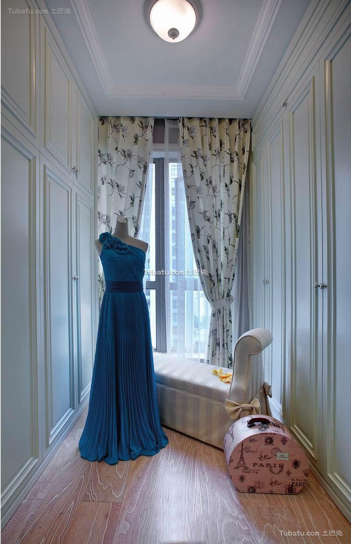 欧式田园设计休闲区窗帘