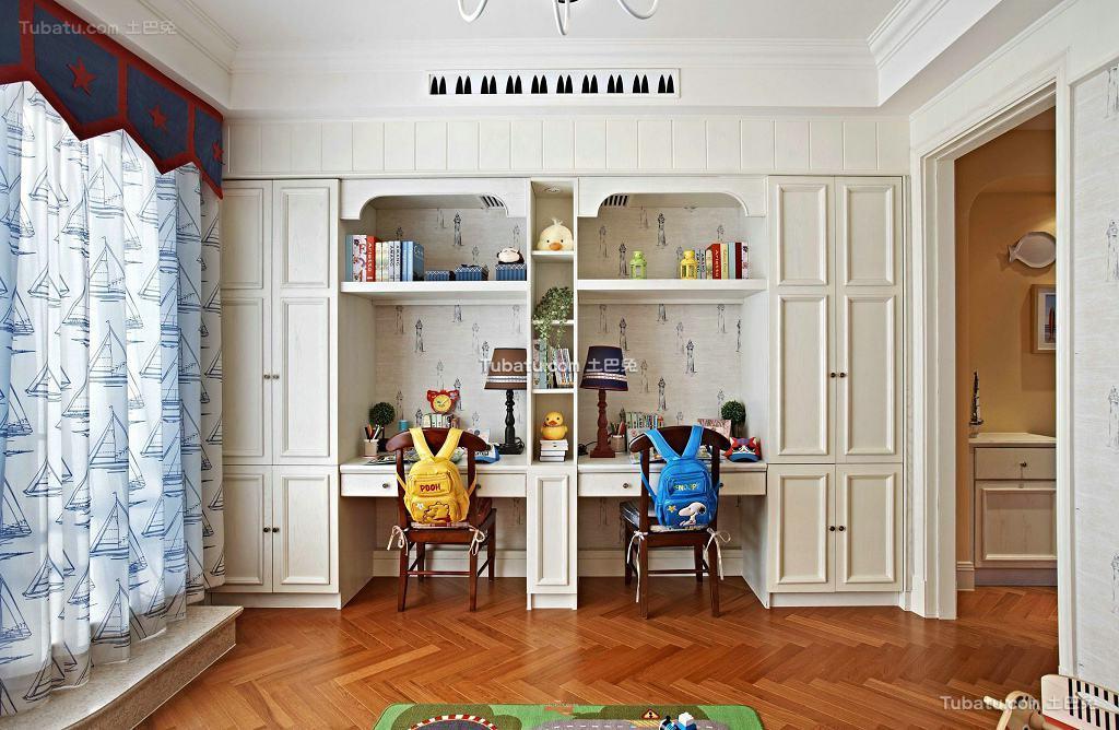 田园设计书房窗帘
