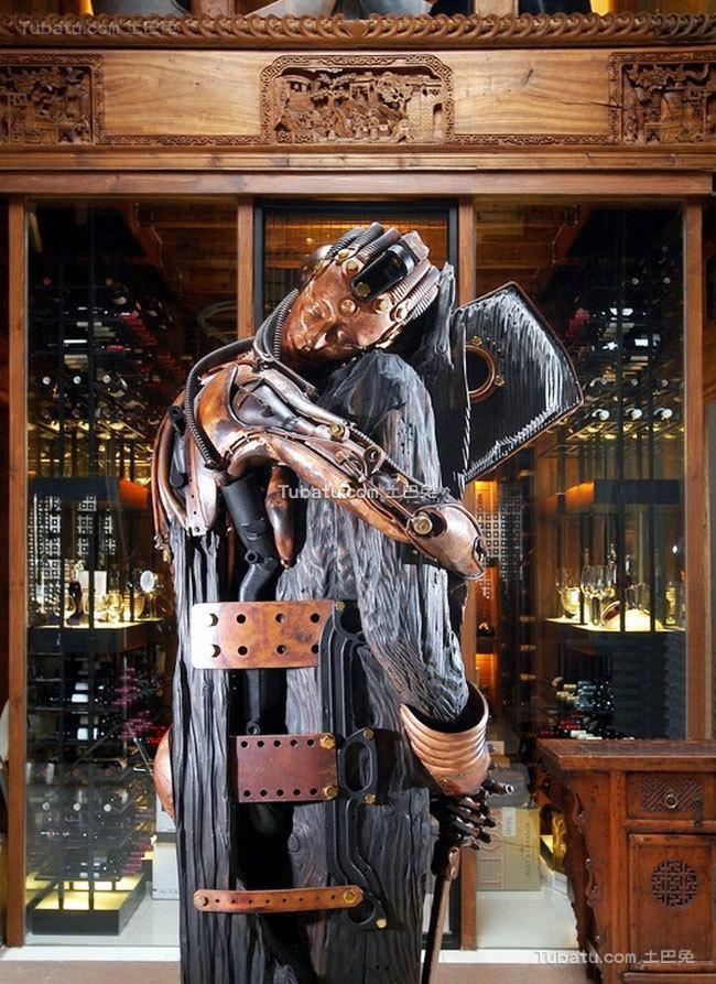会所设计室内雕像设计图片