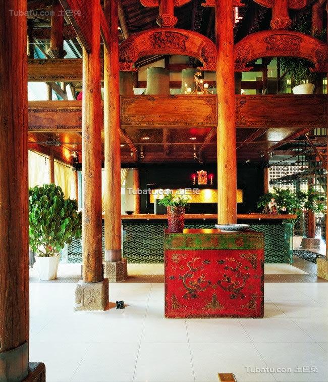 藏式会所设计室内图片案例