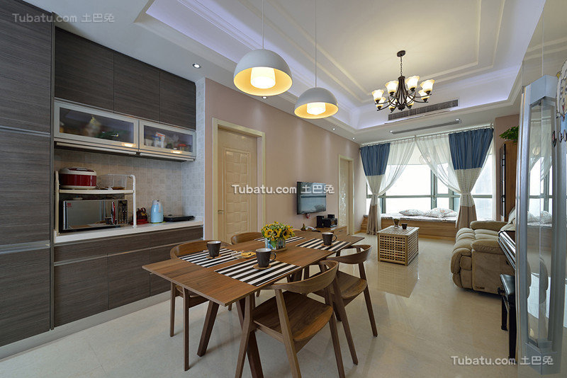 简约现代设计餐厅室内效果图