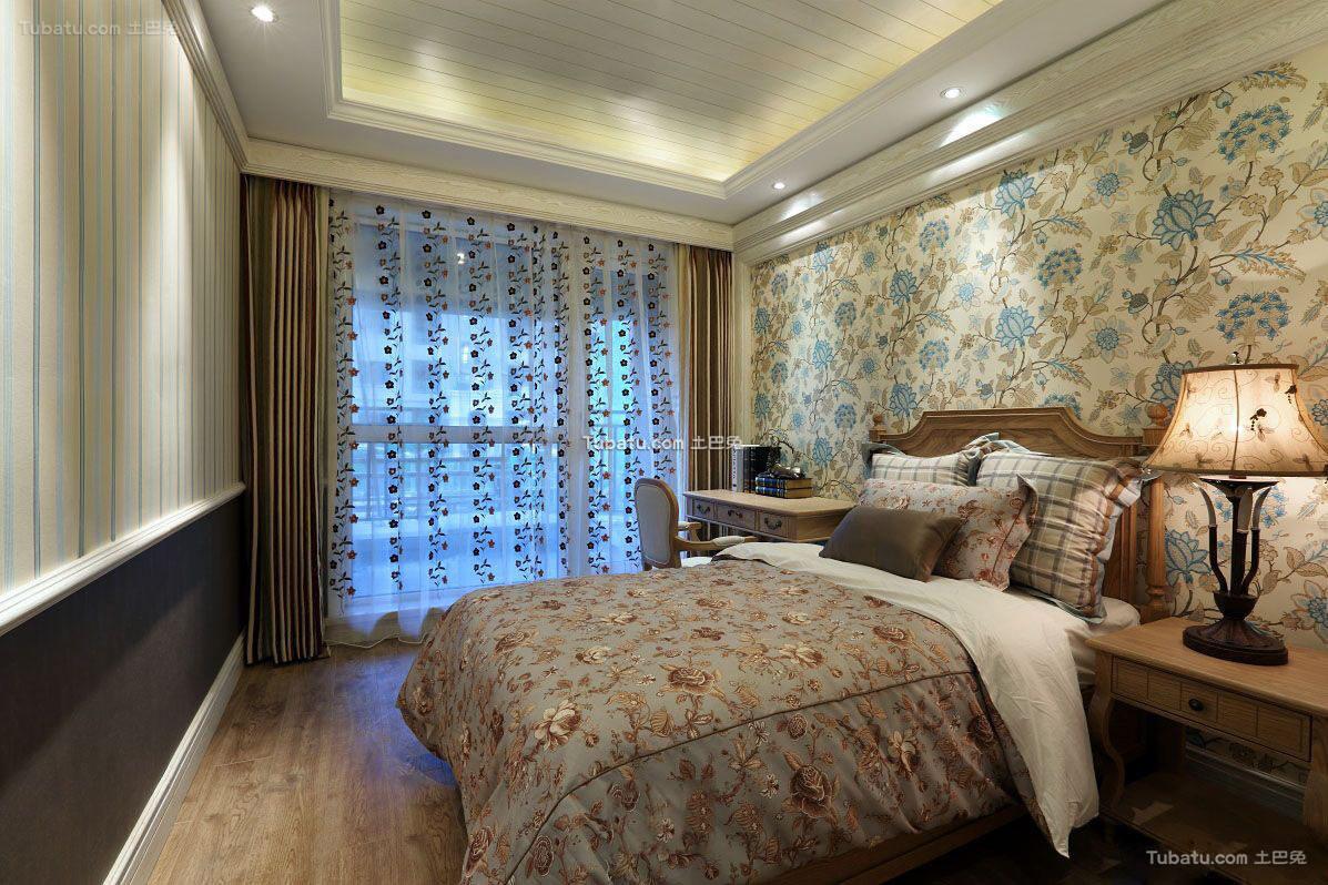 田园家居卧室窗帘欣赏