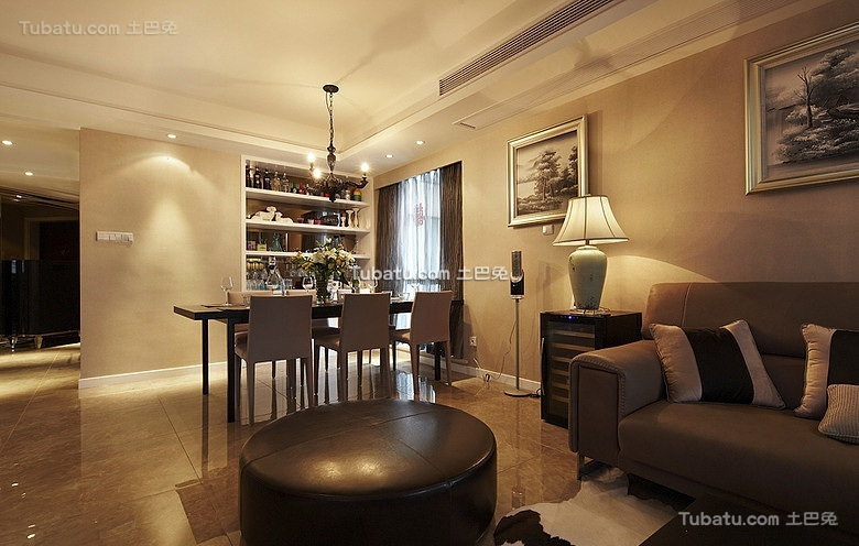 时尚现代风格设计二居室效果图欣赏