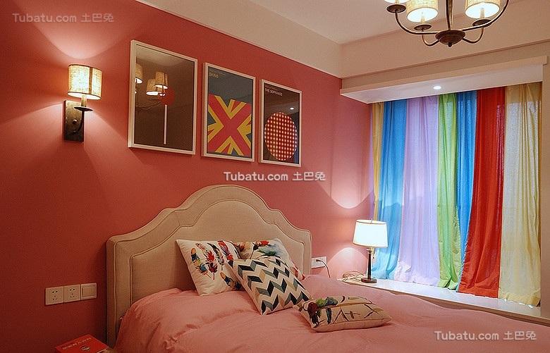 混搭式宜家风格卧室背景墙设计