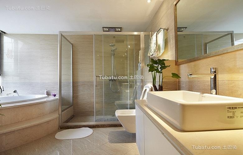 时尚现代风格设计卫生间效果图欣赏