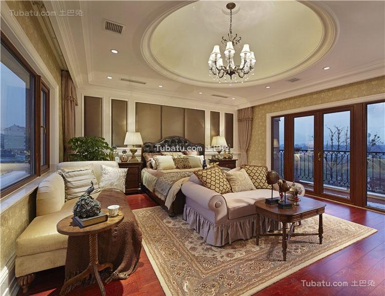 美式温馨时尚卧室吊顶