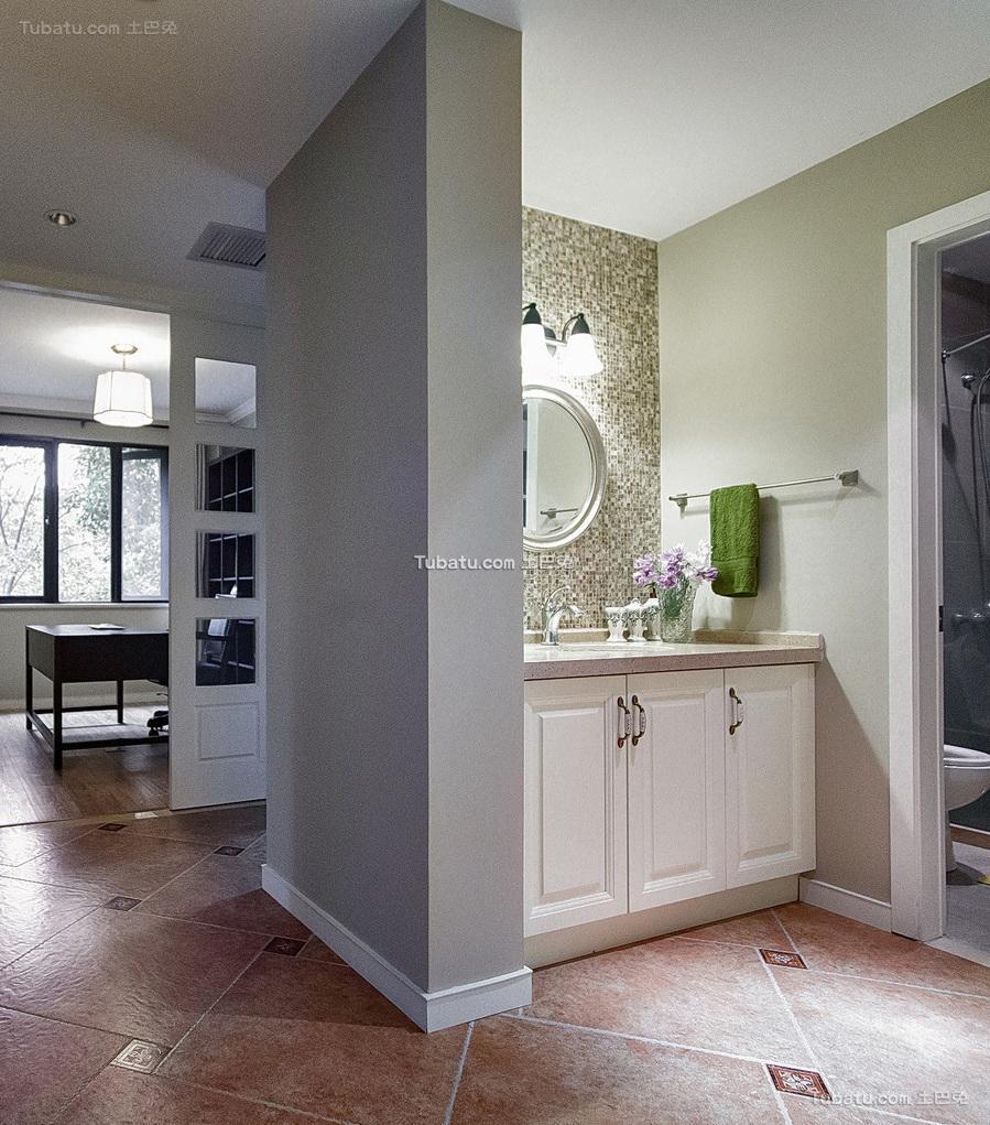 美式风格卫生间设计装饰效果图片