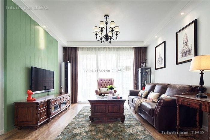 美式家居客厅电视背景墙欣赏2015