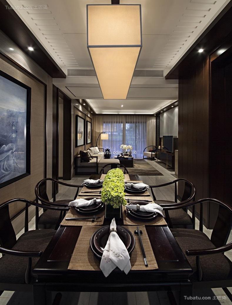 现代中式风格家居餐厅装修效果图