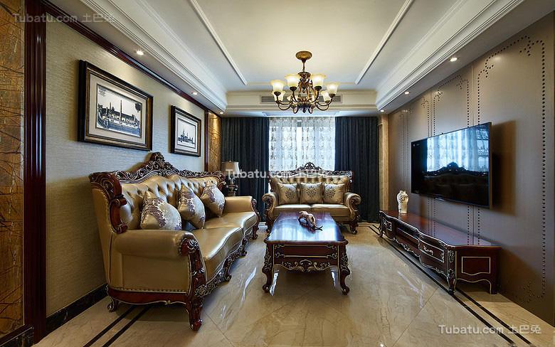 精致奢华欧式客厅装修设计