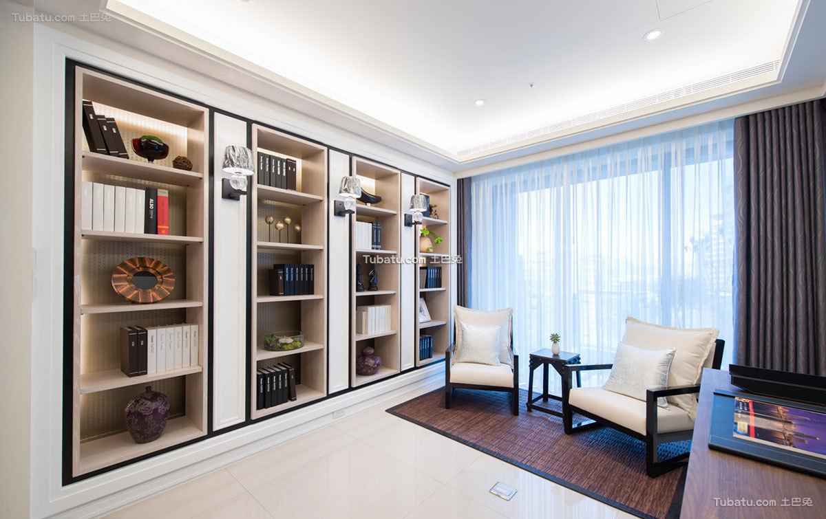 新古典风格家居书房设计装修效果图