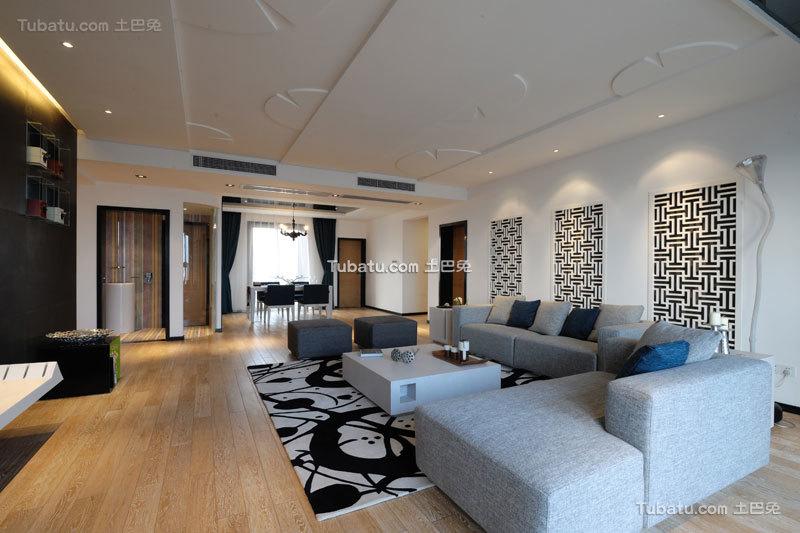 时尚现代中式三居装潢大全