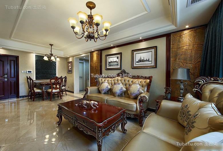 精致奢华欧式二居装潢案例