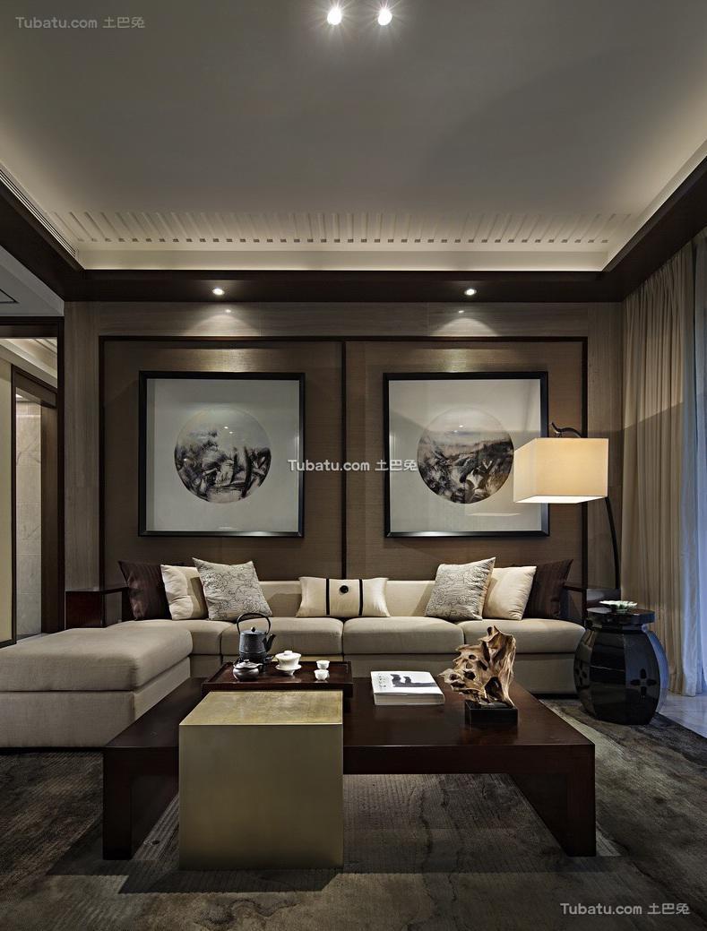 现代中式风格四居室装修效果图