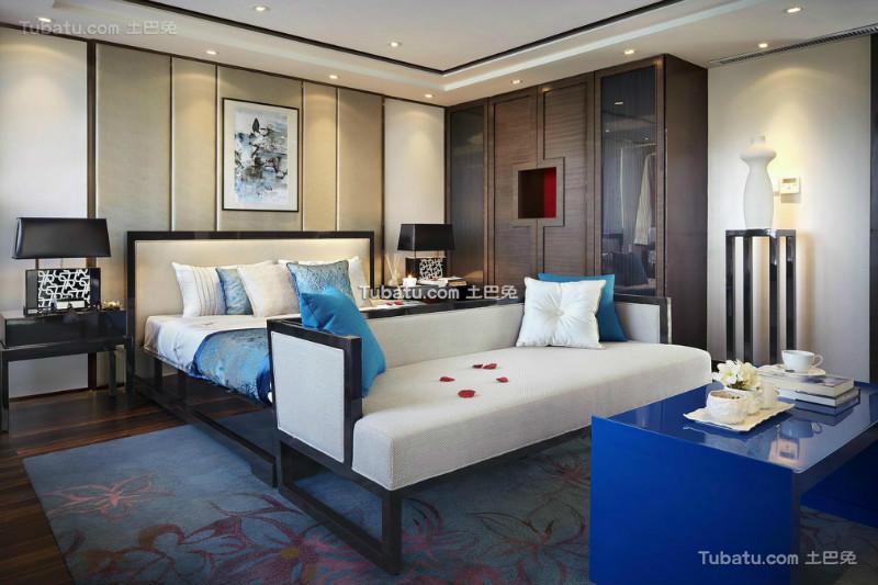 时尚雅致现代中式卧室设计