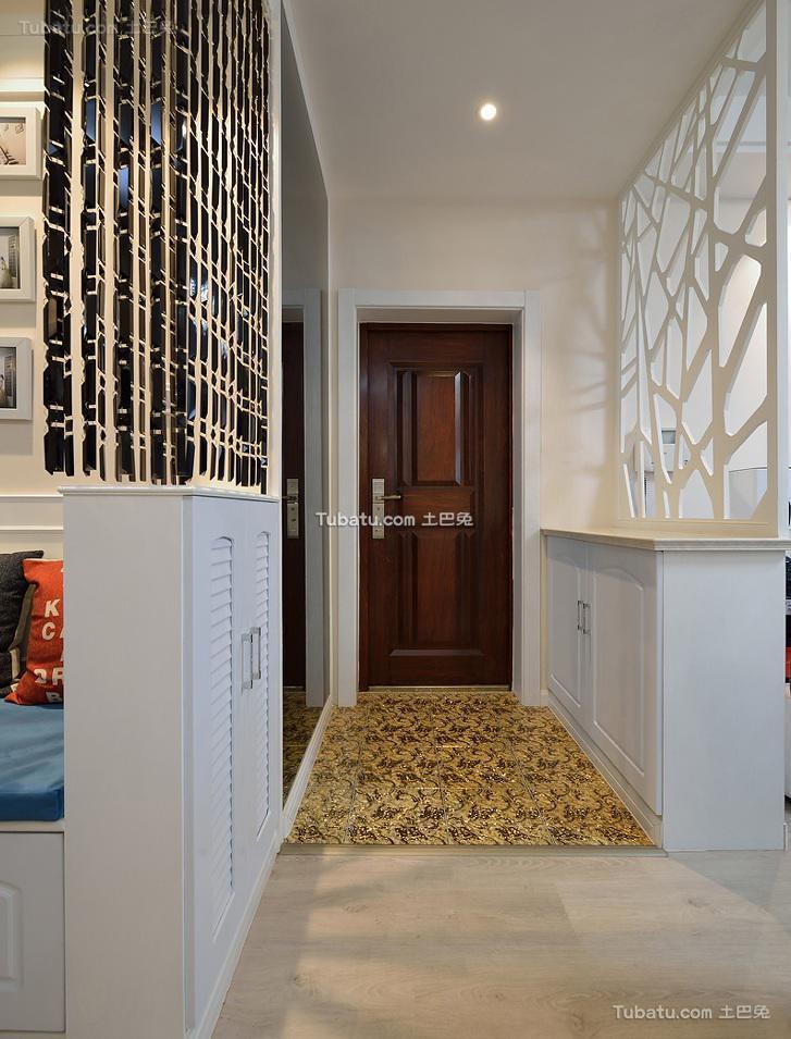 现代进门玄关设计装修效果图片