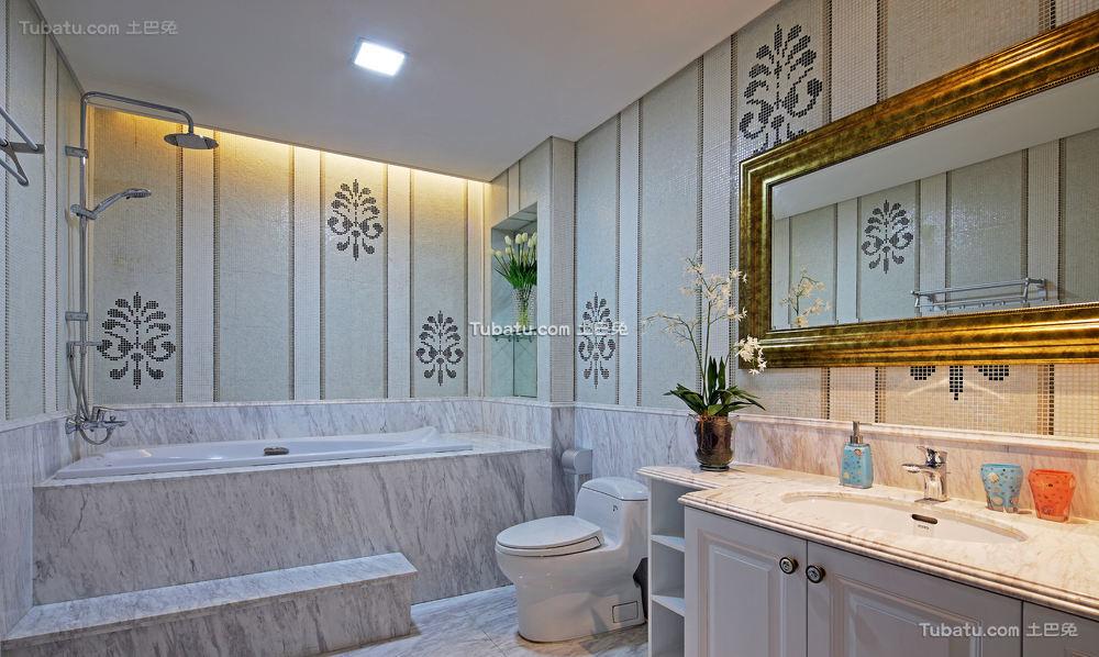 简欧风格室内卫生间设计效果图片