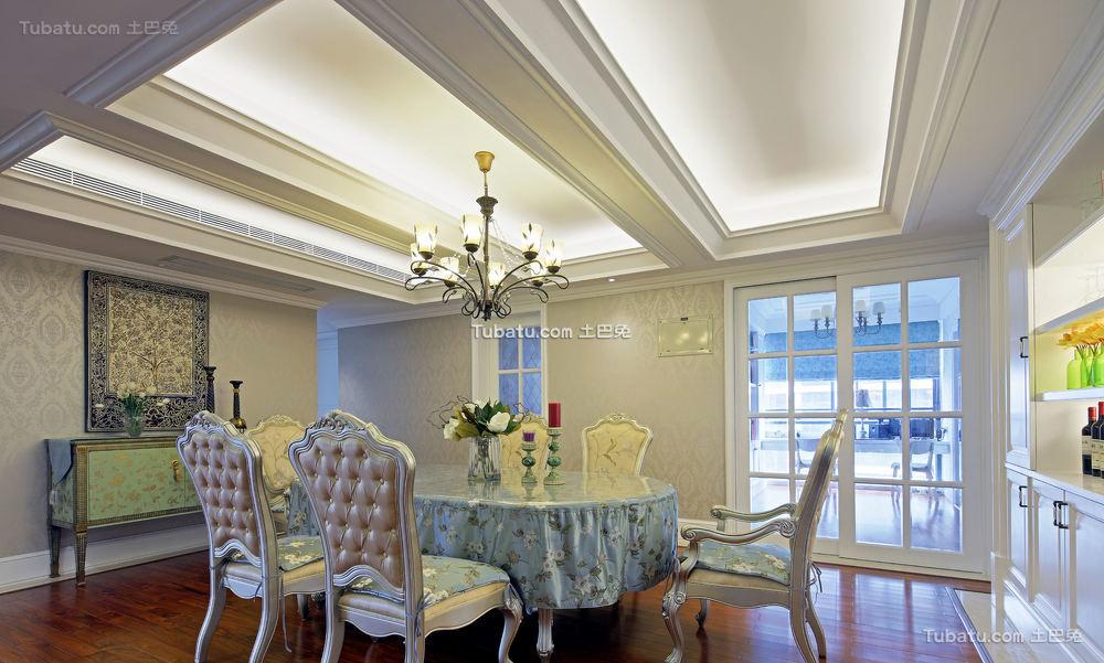 简欧风格室内餐厅装饰设计效果图片
