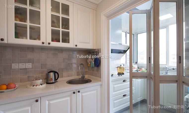 美式风格厨房设计装修效果图欣赏