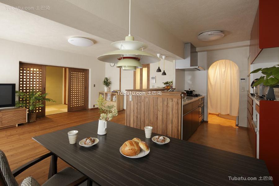 清新日式装修风格二居室设计