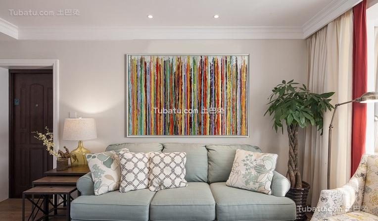 田园美式风格两居室装修效果图