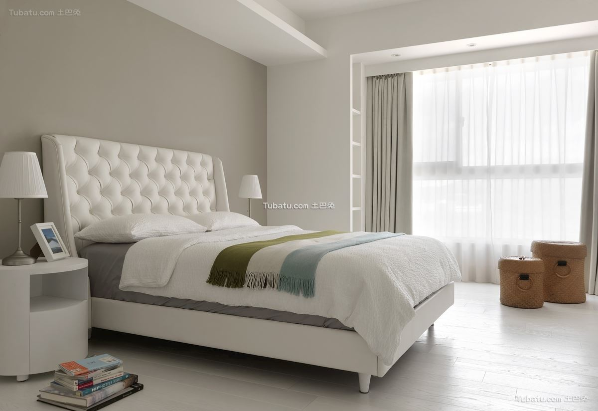 白色简约装修风格卧室设计