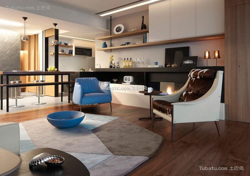 北欧现代风格客厅装修