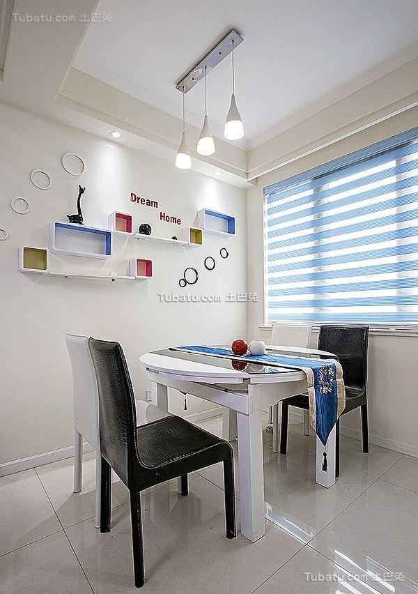 现代公寓室内餐厅装饰布置效果图片
