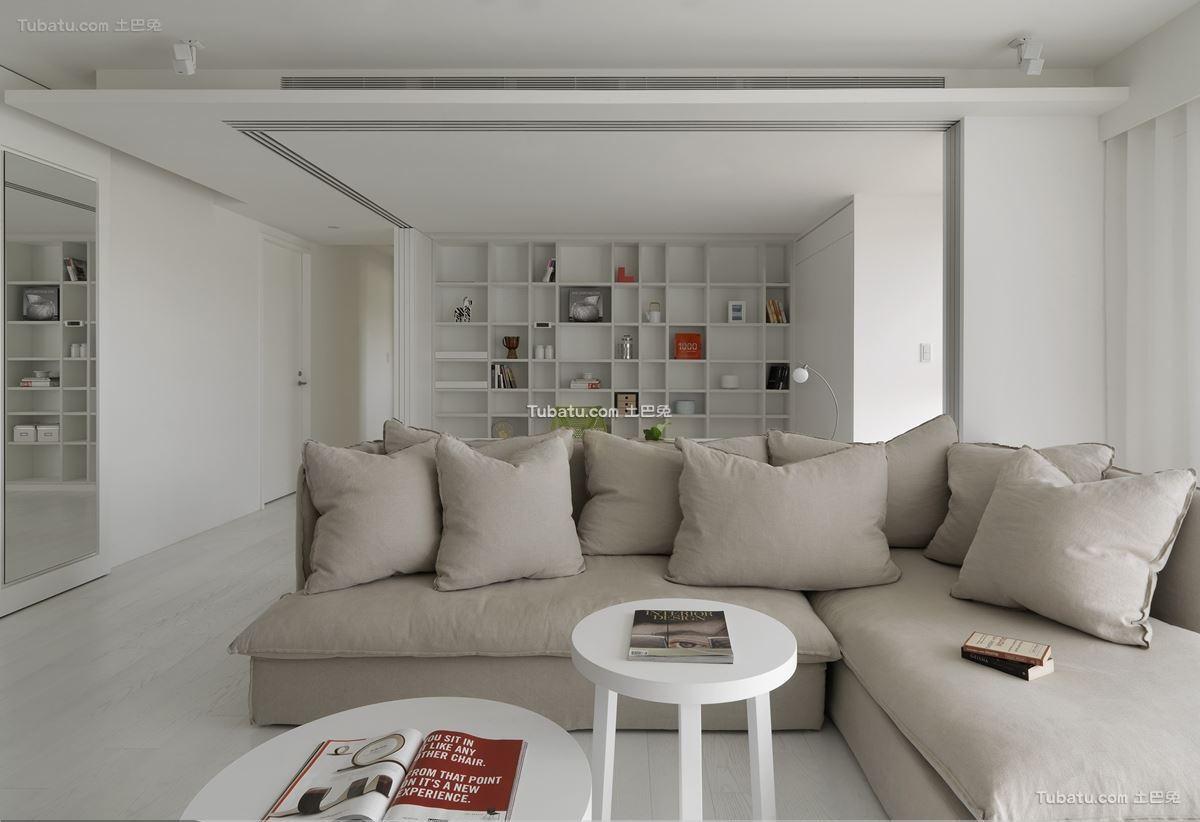 白色简约装修风格客厅设计