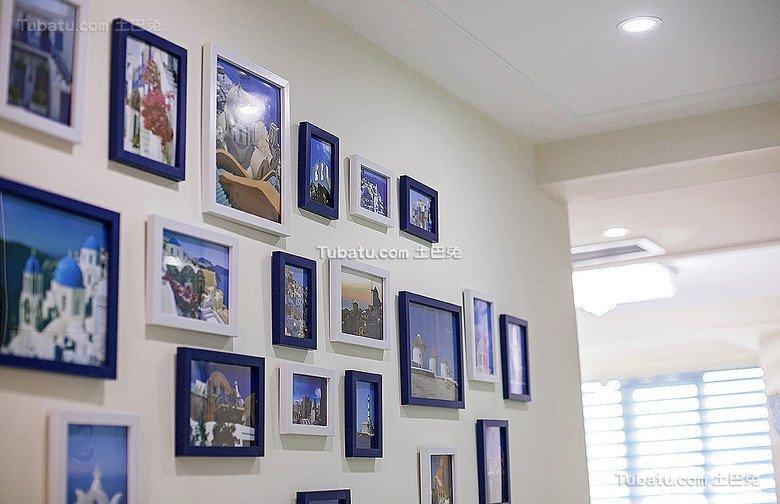 现代公寓室内相片墙效果图片