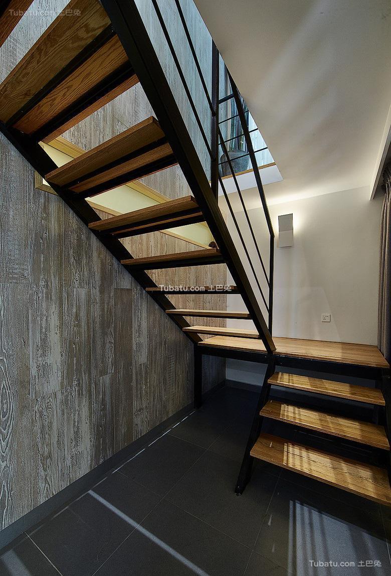北欧风格现代室内楼梯装饰效果图片