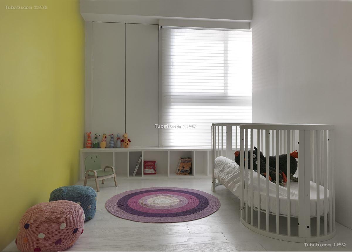 白色简约装修风格儿童房设计