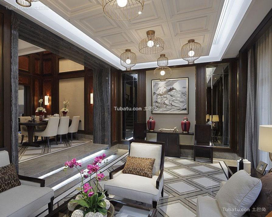 典雅新中式别墅装潢案例