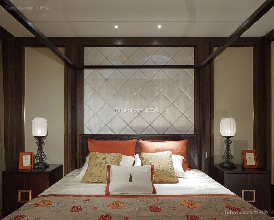 新中式家居卧室设计案例
