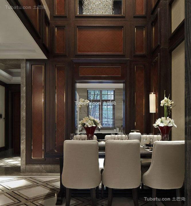 典雅复古新中式餐厅设计