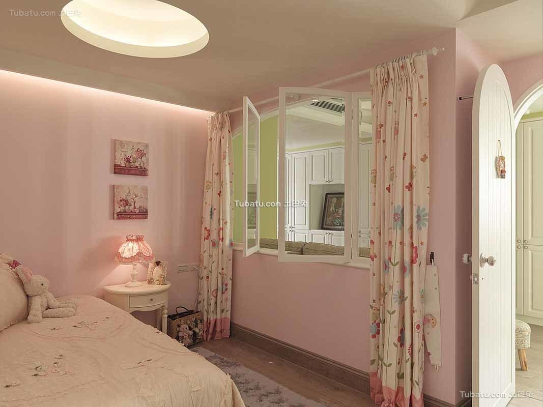 田园家庭设计卧室窗帘欣赏